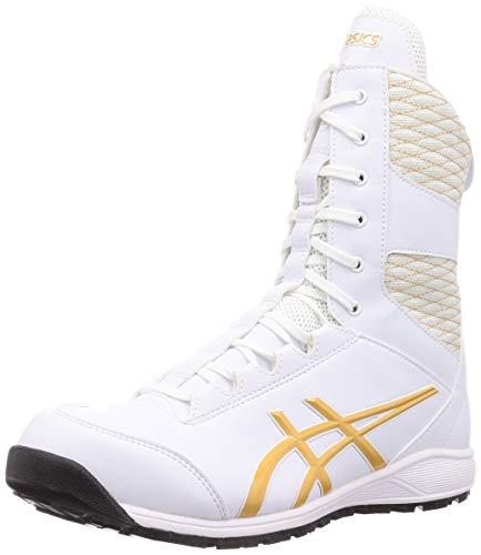 [アシックス] ワーキング 安全靴/作業靴 ウィンジョブ CP403 TS 2E相当 JSAA A種先芯 耐滑ソール fuzeGEL搭載 高所作業 メンズ ホワイト/ピュアゴールド 26.5