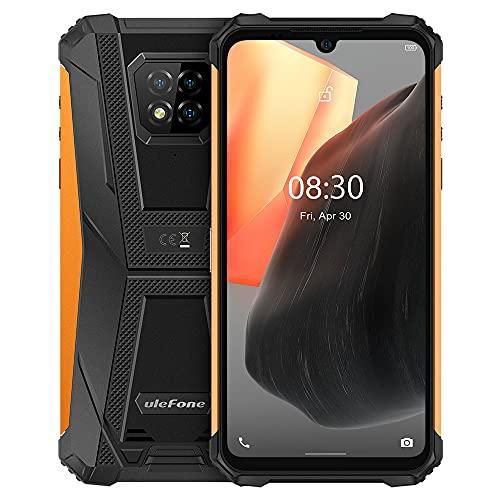Ulefone Armor 8 Pro Móvil Resistente Android 11, 6.1'' HD + IP68 Impermeable Antigolpes Teléfono Libre, Helio P60 6GB + 128GB, Cámara Trasera Triple de 16MP, Desbloqueo Facial&Huella Digital Naranja
