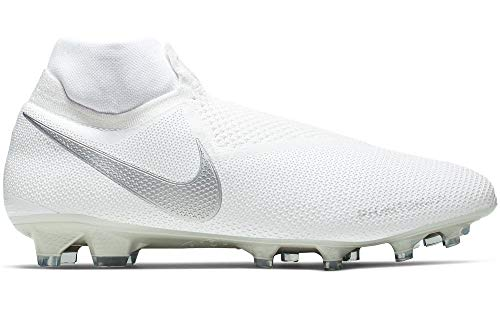 Nike Phantom Vision Elite Direct Fit Firm Ground Soccer Cleats White/Platinum, 8