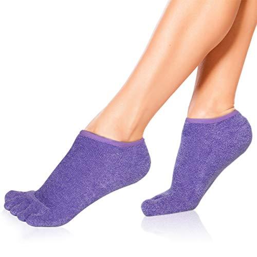 Moisturizing Socks,Soft Moisturizing Gel Socks,5 Toe Socks,Gel Spa Socks For Repairing and Softening...
