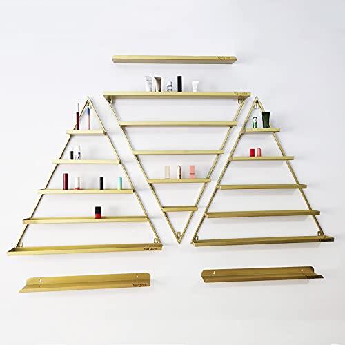 Estante de exhibición de esmalte de uñas de metal montado en la pared, Estante de exhibición simple del almacenamiento de la botella del esmalte de uñas del triángulo, para tienda de salón de uñas