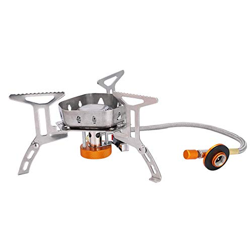Strong Camping Stove, Gas Cartridge with Stainless Steel 3500W Stove Body