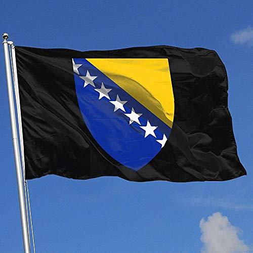 Outdoor Flags Wappen von Bosnien und Herzegowina 3X5 Ft Flagge für Outdoor Indoor Home Decor Sport Fan Fußball Basketball Baseball