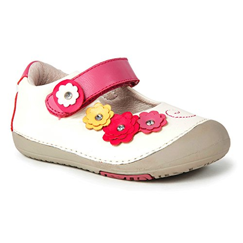 Momo Baby Girls First Walker Toddler Flower Power Mary Jane Leather Shoes Pink US Kids 6