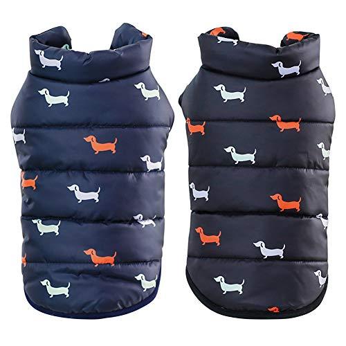 GBY Huisdierkleding voor honden en katten, katoenen vesten voor herfst en winter, warme huisdierkatoen voor de winter en fluweel, geschikt voor kleine honden en katten, X-Large, blauw