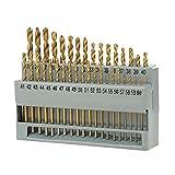 Herramientas 60pcs Fresa espiral Brocas HSS Taladro de titanio recubierto de bits Conjunto potencia de perforación con la madera de plástico y aluminio juego de brocas