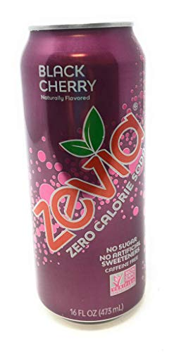 Zevia, Soda Black Cherry Sugar Free, 16 Fl Oz