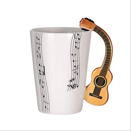 siyao Cup Novelty Gitaar Keramische Beker Persoonlijkheid Muziek Opmerking Melk Sap Citroen Mok Koffie Thee Beker Thuis Kantoor Drinkware Als Beeld