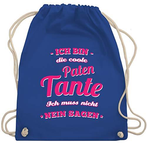 Shirtracer Schwester & Tante - Ich bin die coole Patentante - Unisize - Royalblau - adventskalender männer - WM110 - Turnbeutel und Stoffbeutel aus Baumwolle