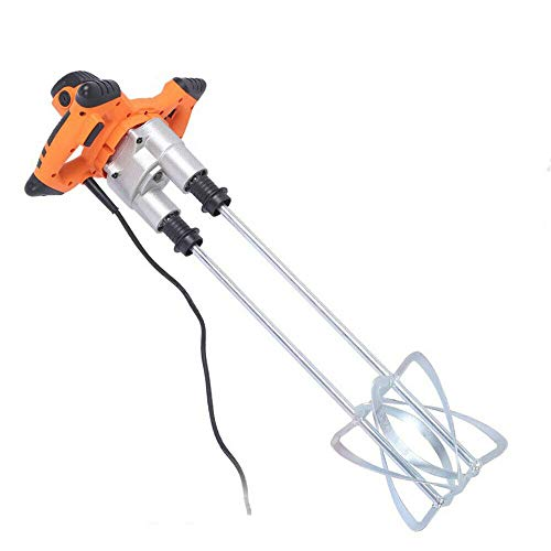 Electric Mortar Mixer,1600W AC 110V Power Concrete Mixers Paint Cement Grout Mixers - Concrete & Mortar Mixer Stirring Tool for Cement Plaster Grout Mortar, USA STOCK