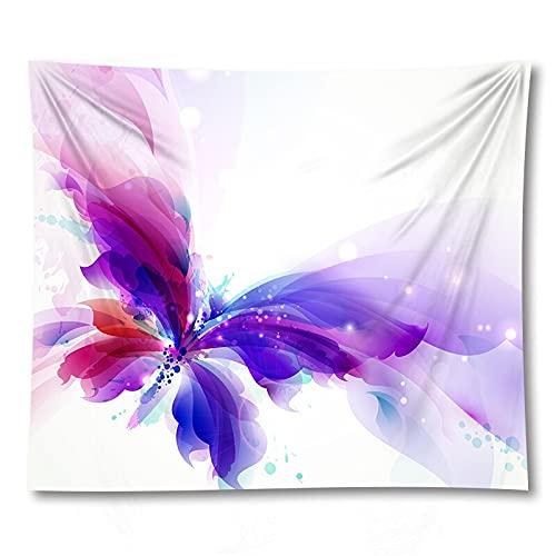 PPOU 3D Farfalla succulente arazzo Yoga stuoia di montaggio a parete complementi arredo casa sfondo panno arazzo coperta a9 150x200 cm