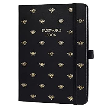 Password Book with Alphabetical Tabs - Portable Password Keeper and Organizer for Internet Login & Website & Username & Password Password Notebook Keeper for Home or Office 6  x 7.8  96 Pages