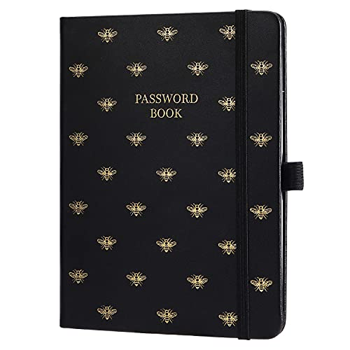 """Password Book with Alphabetical Tabs - Portable Password Keeper and Organizer for Internet Login & Website & Username & Password, Password Notebook Keeper for Home or Office, 6"""" x 7.8"""", 96 Pages"""