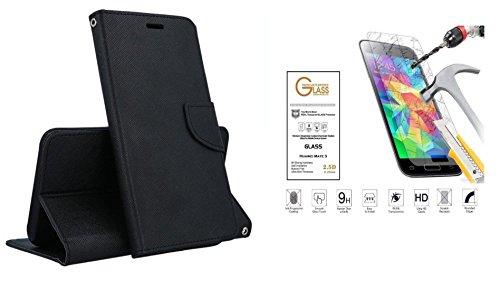 compatible pour MOTOROLA (MOTO E4) XT1762 XT1767 5.0' Étui Coque Case Stand Flip Livre Gel Silicone TPU Souple Portefeuille + Film Verre Trempé d'écran Antichoc 9H