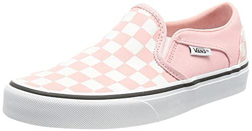 Vans Damen Asher Sneaker, (Checkerboard) Powder pink/White, 39 EU