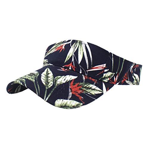 WE-WHLL Unisex Sports Gorra de béisbol Superior vacía Boho Floral Tropical Leaves Snapback Hat-1