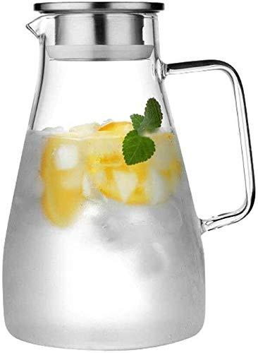 Tetera silbante Tetera para el hogar para la Tetera de té de Hoja Suelta 1500 ml de Cristal Resistente al Calor Botella de Agua fría refrigeradora Refrigerador de Cebada Tetera Tetera Oficina WHLONG