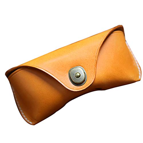 S-TROUBLE Estuche de Cuero Unisex para anteojos Gafas de Sol Vintage Soporte Protector para Gafas