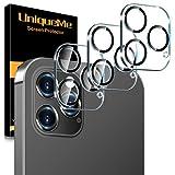 [3 pièces] UniqueMe Caméra Arrière Protecteur pour iPhone 12 Pro Max (6,7 pouces) Caméra, Protection écran [9H Dureté][Couverture maximale] Ultra Résistant Film Verre Trempé