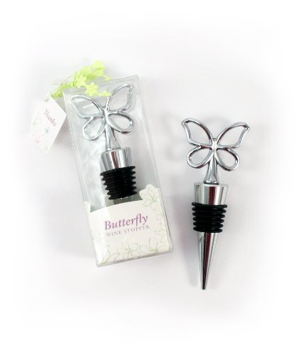 Weddingstar Butterfly Wine Stopper in Gift Packaging