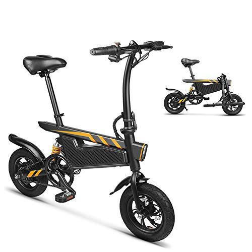 E-bike, inklapbaar, licht, aluminium, 250 W, elektromotor en dubbele schijfrem, E-bike, veersysteem, met LED-licht, belasting 264 lb, voor jongeren en volwassenen