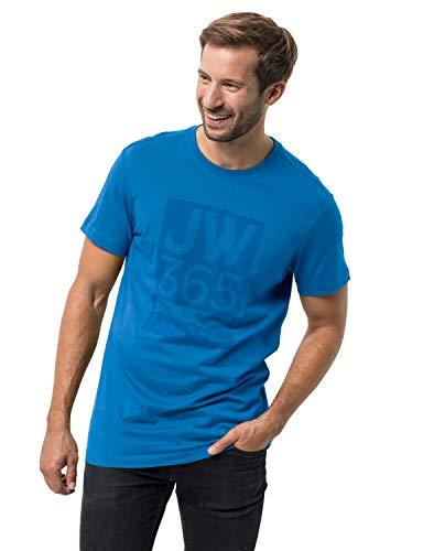 Jack Wolfskin Herren 365 T-Shirt, Sky Blue, M