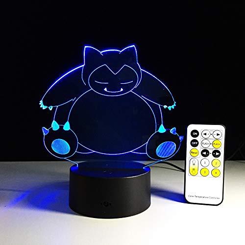 Nur 1 Stück Creative Gifts Lampe 3D Nachtlicht USB Led Tisch Schreibtischlampe als Home Decor Schlafzimmer Lesung Nachtlicht