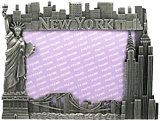 New York Picture Frame -Pewter Lrg, New York Picture Frames, New York Souvenirs