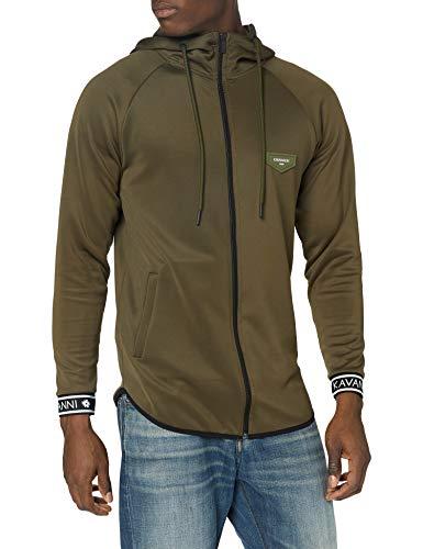 Gianni Kavanagh Army Green Core Elastic Hoodie Jacket Sudadera con Capucha para Hombre
