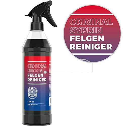 SYPRIN Felgenreiniger und Felgenpflege für Alufelgen - effiziente und säurefreie Felgenreinigung I Felgen Reiniger Sprühflasche (500ml)