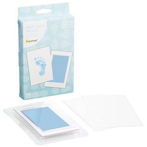 Pearhead Clean-Touch Tampon Encreur, Bleu