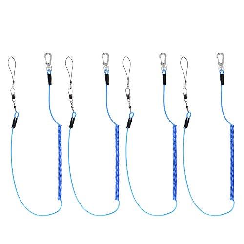 Booms Fishing T07 スパイラルコード ストラップ付き 竿の落下防止 尻手ロープ ワイヤー内蔵