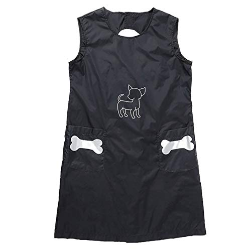 YNSNWBD Apronpet Groomer Arbeitskleidung wasserdichte Nylon-Schürze mit Taschen Antihaft-Wollschürze für die Reinigung von Hunde- / Katzenbädern