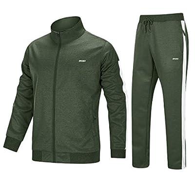 MAGNIVIT Men's Tracksuit 2 Piece Athletic Full Zip Jogging Running Suits Set