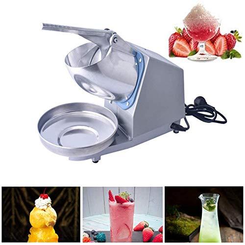 DFEDCLL Elektrischer Eisrasierer, Eisbrecher, rasierte Eismaschine Schneekegelmacher Smoothie-Cocktailmacher für den privaten und gewerblichen Gebrauch,Grau