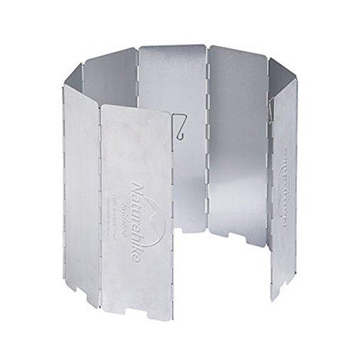 Naturehike 8-plate resistente al viento cocina estufa de gas paravientos plegable