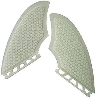 UPSURF Fiberglass Honeycomb Keel fin 2 fins surf Thruster K2 Black/White (FCS&Future&FCS2)