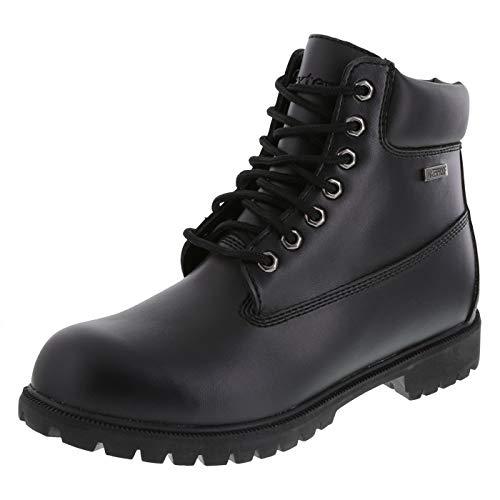 """safeTstep Black Men's Slip Resistant 6"""" Waterproof Cheyenne Boot 8 Wide"""