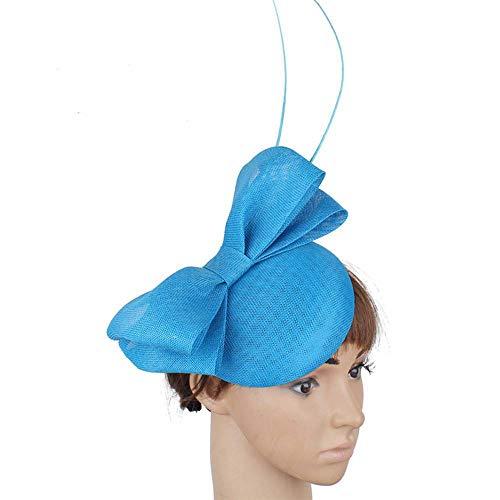 FHKGCD Boda Sombrero De Novia Diseño De Lazo Fiesta De Mujer Sombrero...