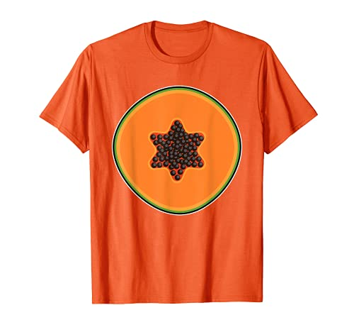 Papaya Lazy DIY Disfraz de Halloween Lindo Tropicales en rodajas Camiseta