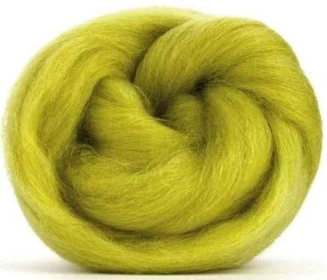 4 oz Paradise Fibers Laburnum (Yellow) Corriedale Top Spinning Fiber Luxuriously Soft Wool Top Roving for Spinning with Spindle or Wheel, Felting, Blending and Weaving