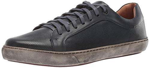 Driver Club USA Mens Genuine Leather Made in Brazil San Francisco Sneaker Blue Brushed Sole, 7 M US