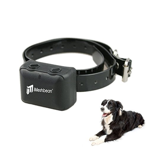 iMeshbean Rechargeable No Bark Collar [Free Charger] Waterproof Dog Control Shock Collar for Small, Medium & Large Dogs - Best Electric Vibration Anti NO Bark Training [Black]