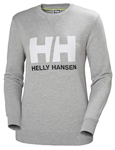 Helly Hansen HH Logo Crew Sudadera Deportiva, Mujer, Grey Melange, M