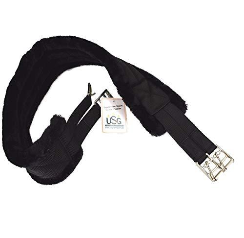 USG Nylon Largo Correa con Piel sintética Acolchado, Negro/Negro, 110cm