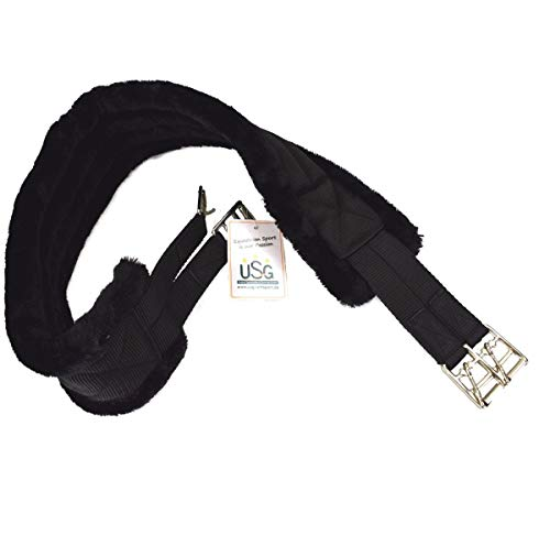 United Sportproducts Germany USG 14300018-233-140 nylon lange riem, één maat, zwart, 140 cm, zwart/zwart