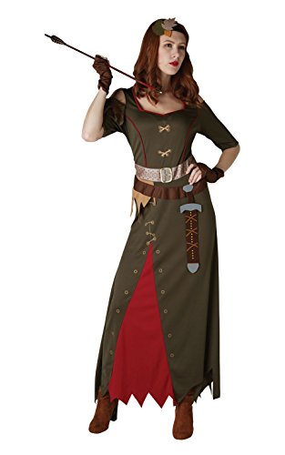 Rubie's officiële meid Marion dames kostuum, middeleeuwse leraren wereld boek dag jurk omhoog, dames maat medium UK 12-14