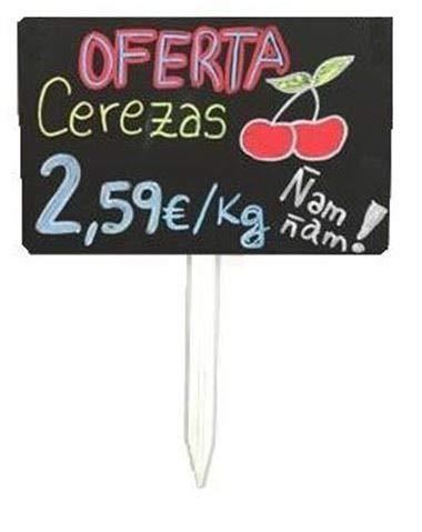 Pizarra Fruteria, Pizarra para frutas, portaprecio fruteria, pizarra precios - 12 ud.