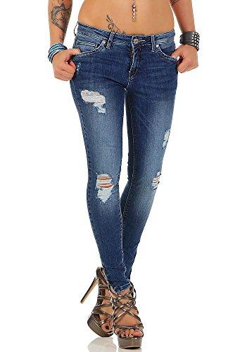 Only Onlkendell Reg SK Ank Jeanscre162330noos Skinny Jeans, Blu (Medium Blue Denim Medium Blue Denim), W25/L32 Donna