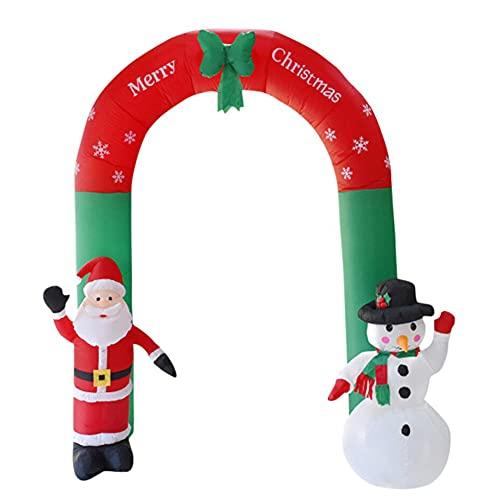 Restar 240cm Arco Inflable navideño Papá Noel Hinchable Inflable de decoración de Navidad